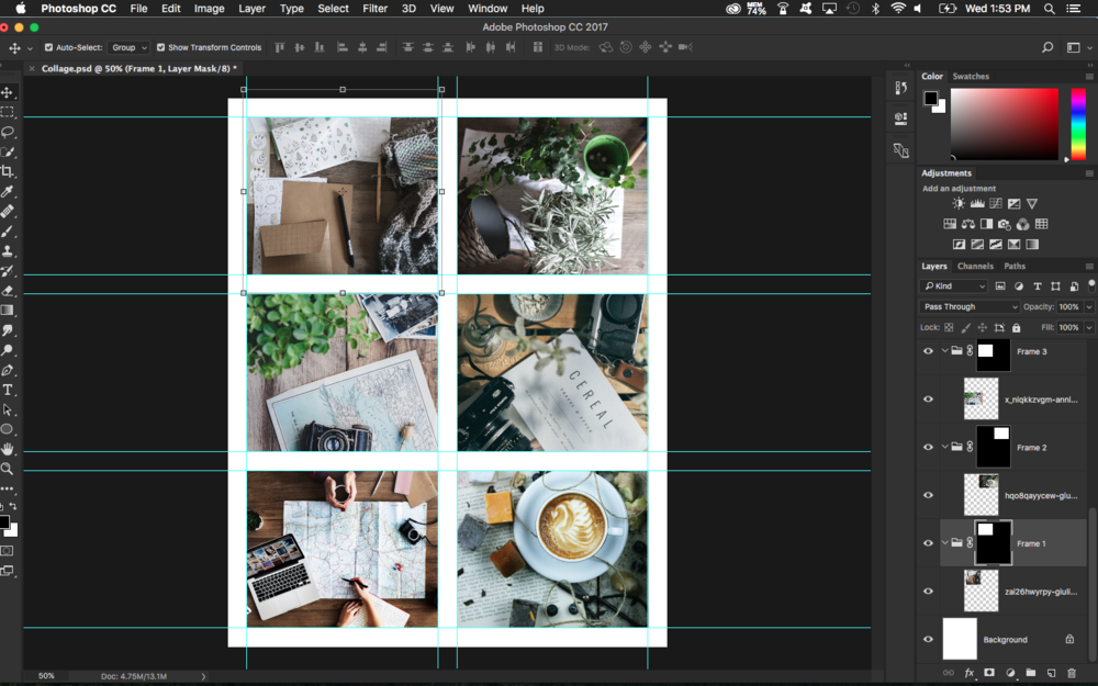 How To Create a Simple Collage Template in Photoshop
