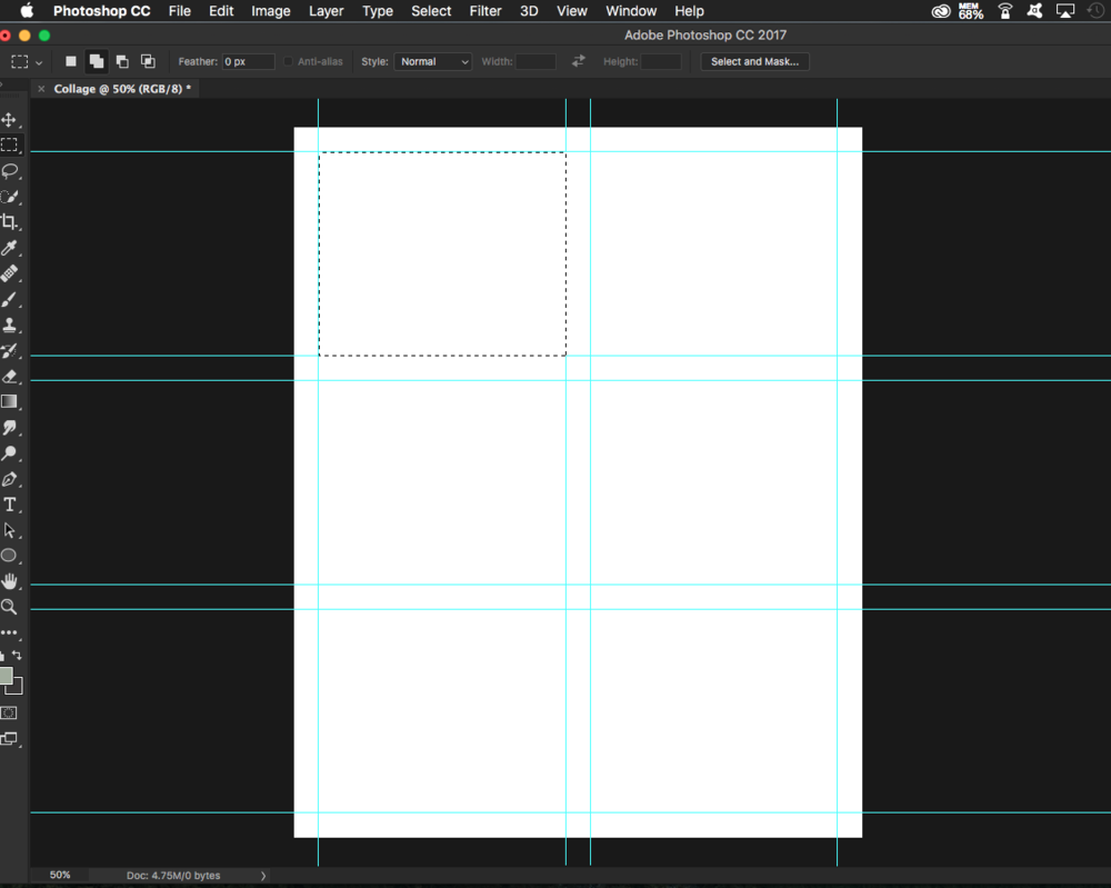 How to Create a Simple Collage Template in Photoshop - Retouching Blog