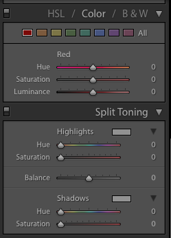Color Toning Slider in Adobe Lightroom