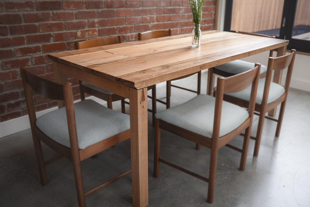 Wormy Chestnut Custom Dining Table