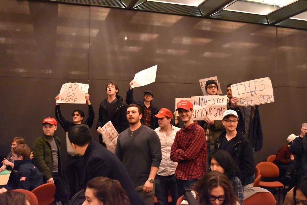 Photo by Diamond Naga Siu - see Washington Square News's coverage of the event  here .