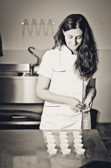 Francesca @ work in her laboratory