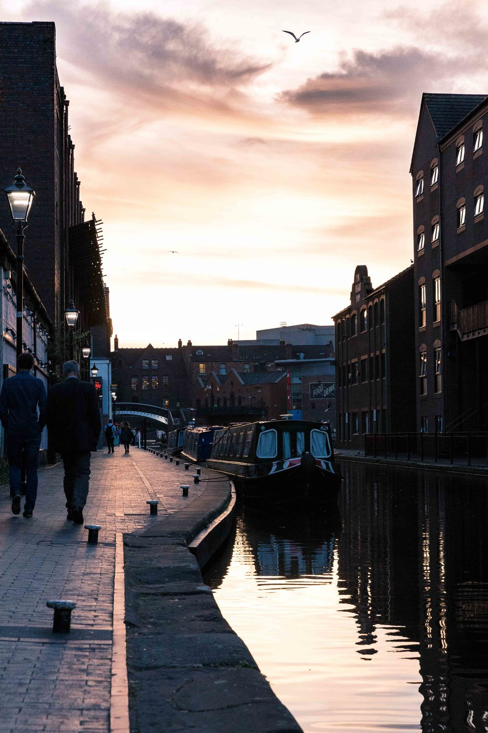 June: Gas Street Basin Sunset.