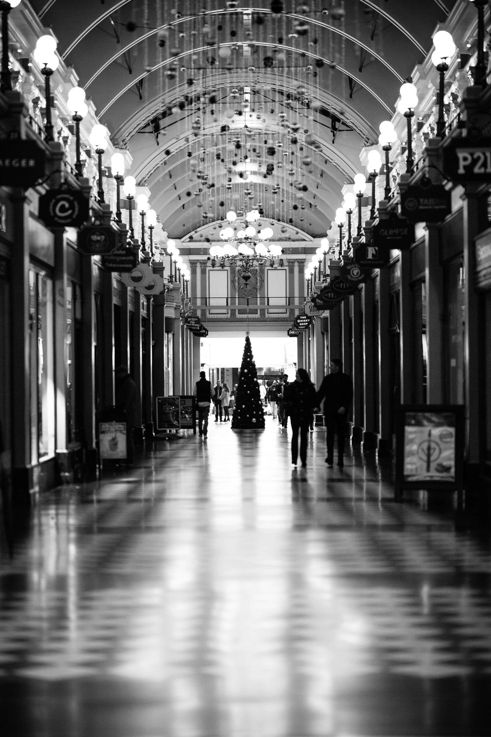 November: Great Western Arcade at Christmas.
