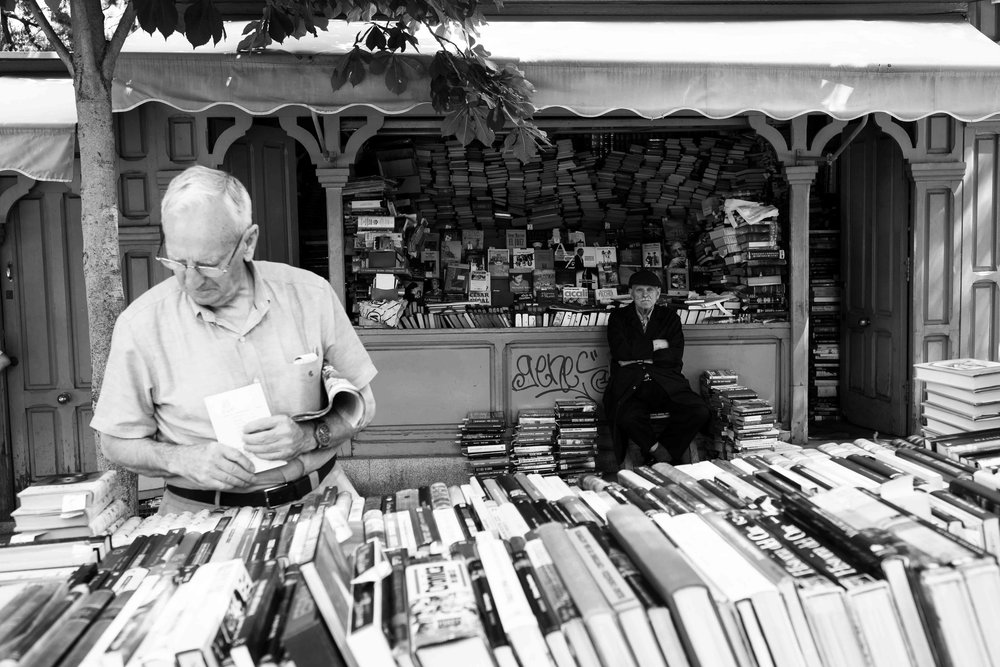 Book seller in Retiro.