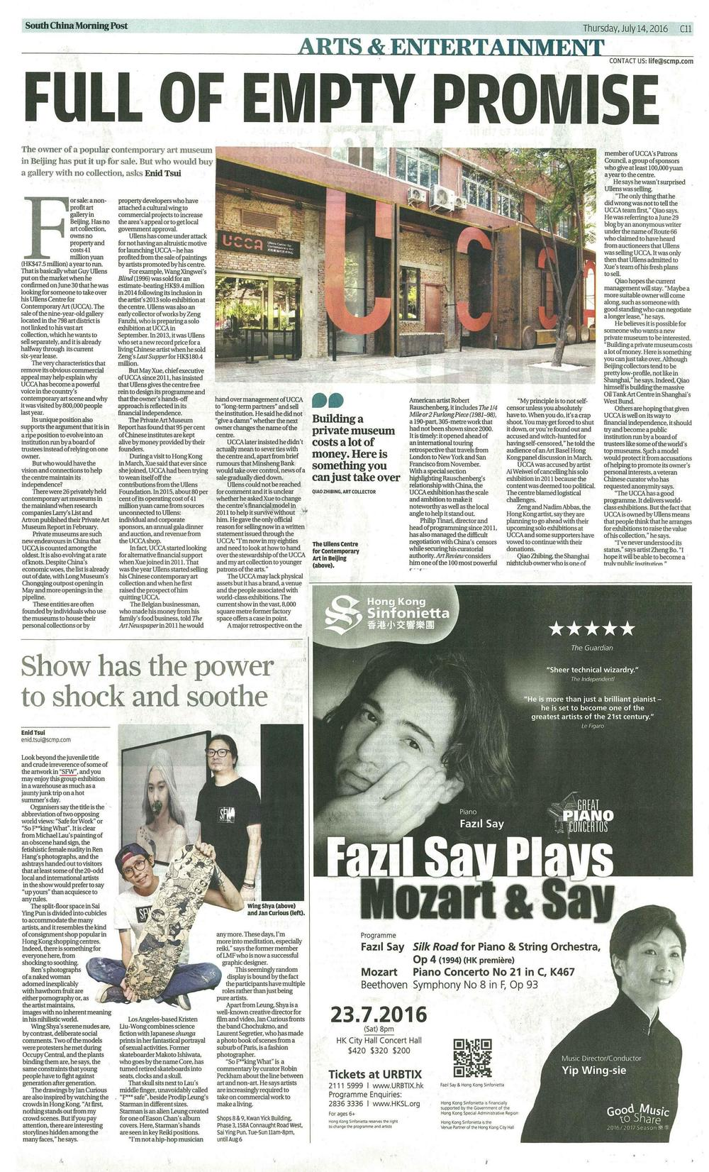 South China Morning Post - July 14th, 2016