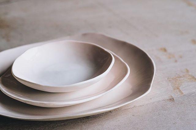 These plates from @ghazceramics feel like living things  Photo @arturrummel  #ceramicplates #instaceramics #stoneware #naturalforms