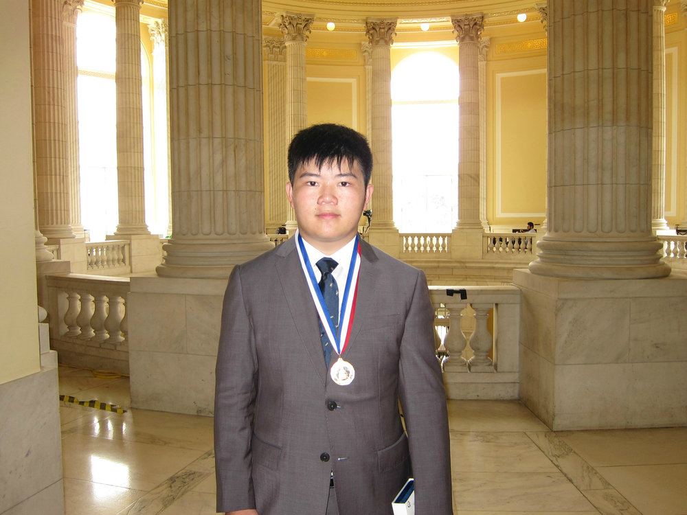 Terence Lee, 2016 Congressional Award Gold Medalist at the Cannon Caucus Room on Capitol Hill