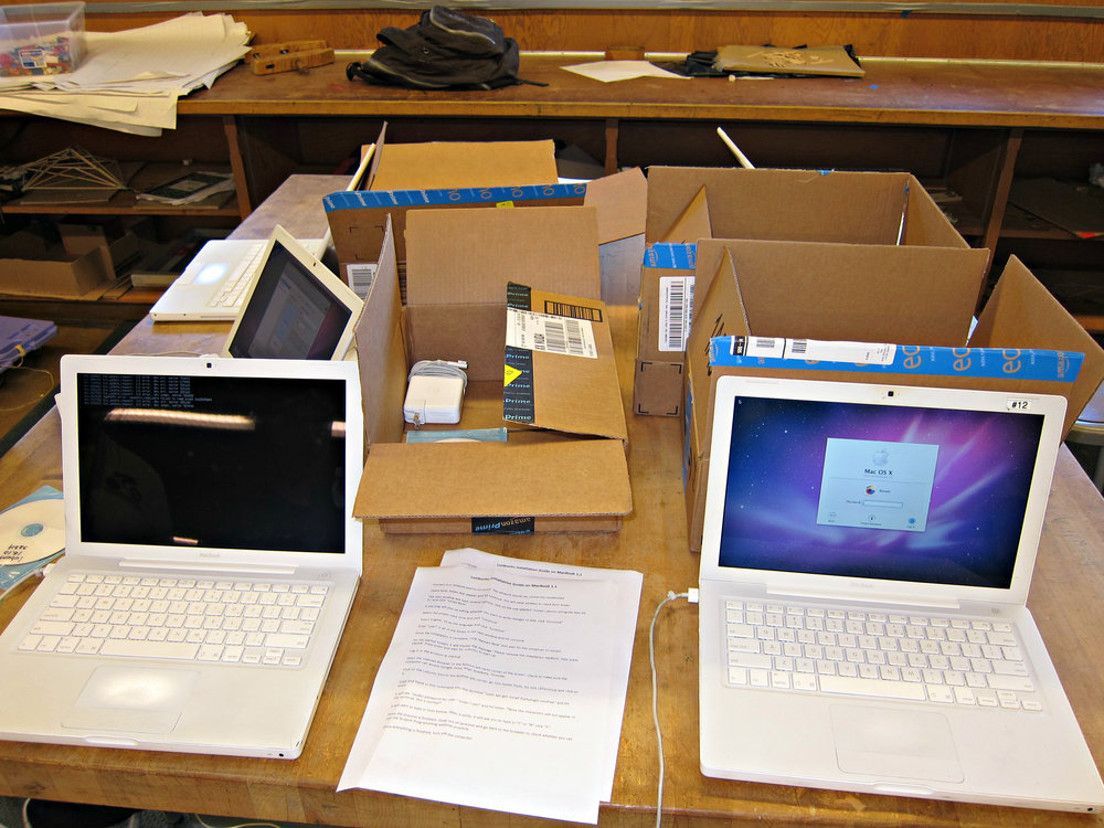 Computer-in-a-Box Project - Linux Ubuntu on MacBook Mac OS X (dual boot)