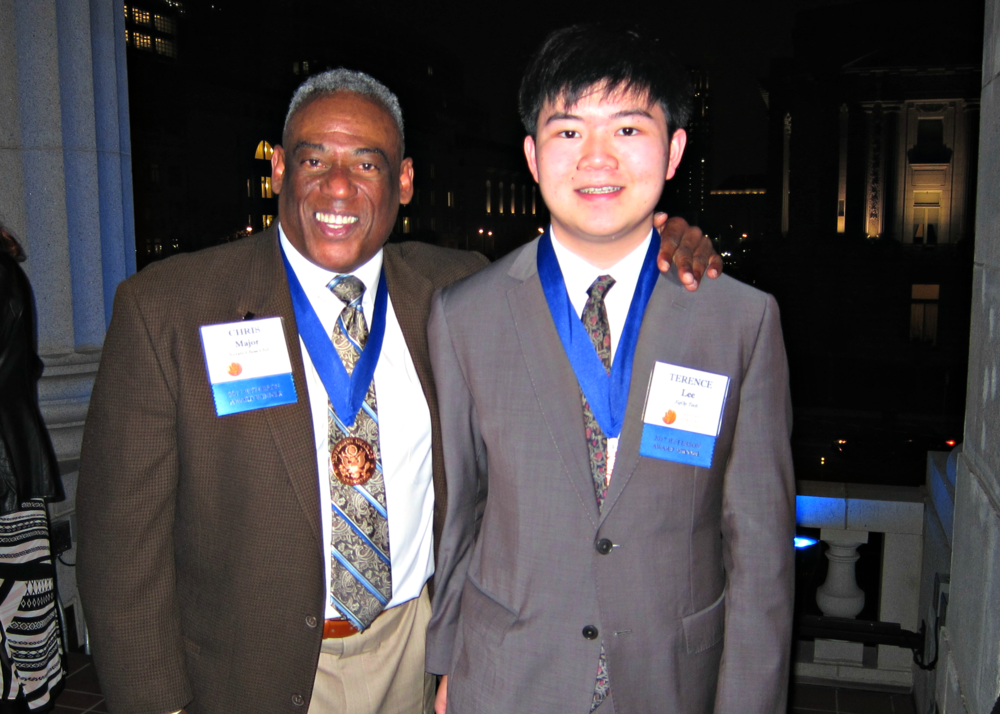 Terence Lee and Chris Major (left), 2017 Jefferson Award for Public Service Medalists