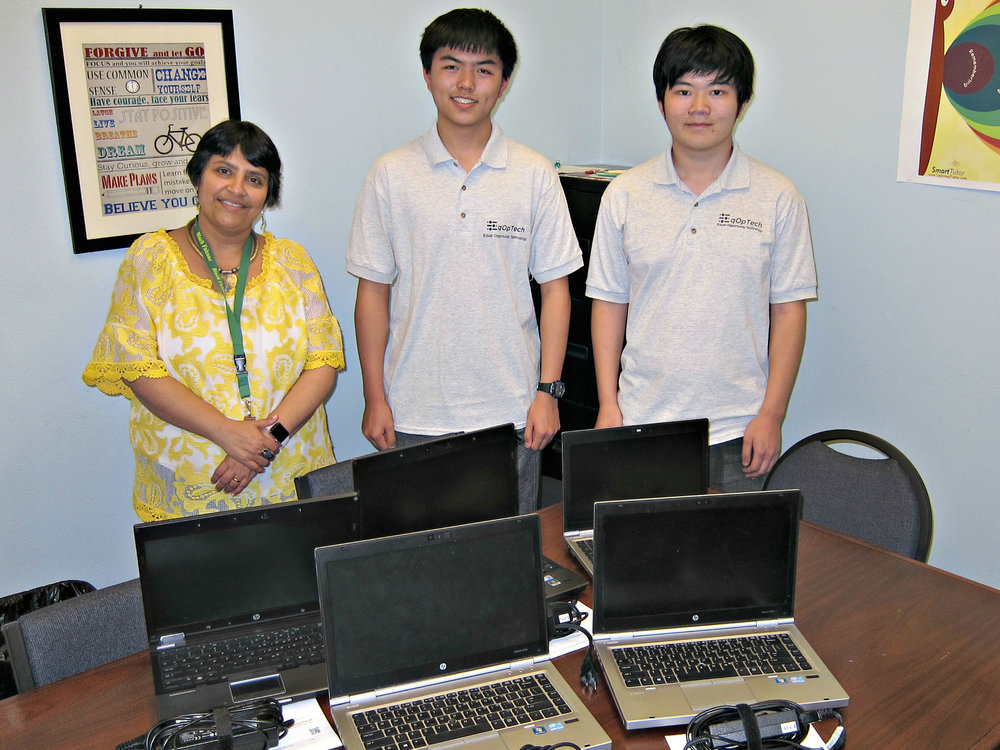 Bhavna Narula (Blach Principal), Kevin Gao (EqOpTech President), Terence Lee (EqOpTech Founder) - Left to Right