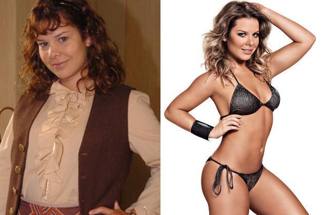 Antes e depois da atriz Fernanda Souza