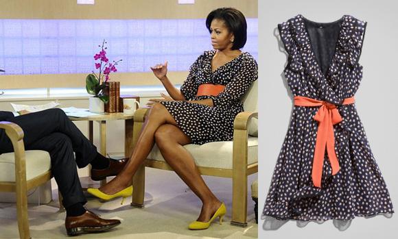Vestido H&M que Michelle Obama usou para entrevista.