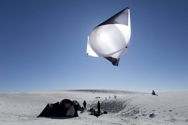 Tomás Saraceno, Aerocene, launches at White Sands Natural Park, 2015..jpg