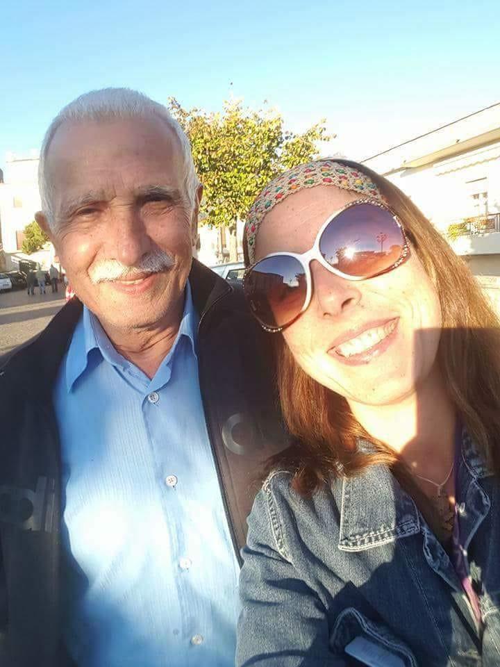 Adriana ALoise e seu pai .
