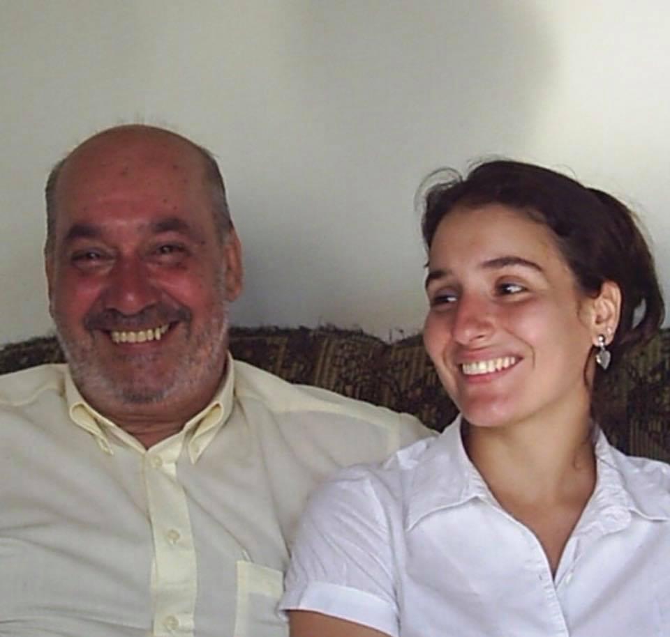 Elaine Portaleoni e seu pai .  Aquele que me faz sentir parte de tudo.