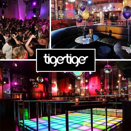 Famoso pelos amantes de balada , o Group Tiger Tiger e conhecido em todo o Reino Unido , em Piccadilly ele é sempre cheio , o valor do cocktail é £8,50 , eles oferecem uma promoção que na compra de 10 garrafas de cerveja você paga £50 .  29 The Haymarket, SW1Y 4SP, tigertiger.co.uk