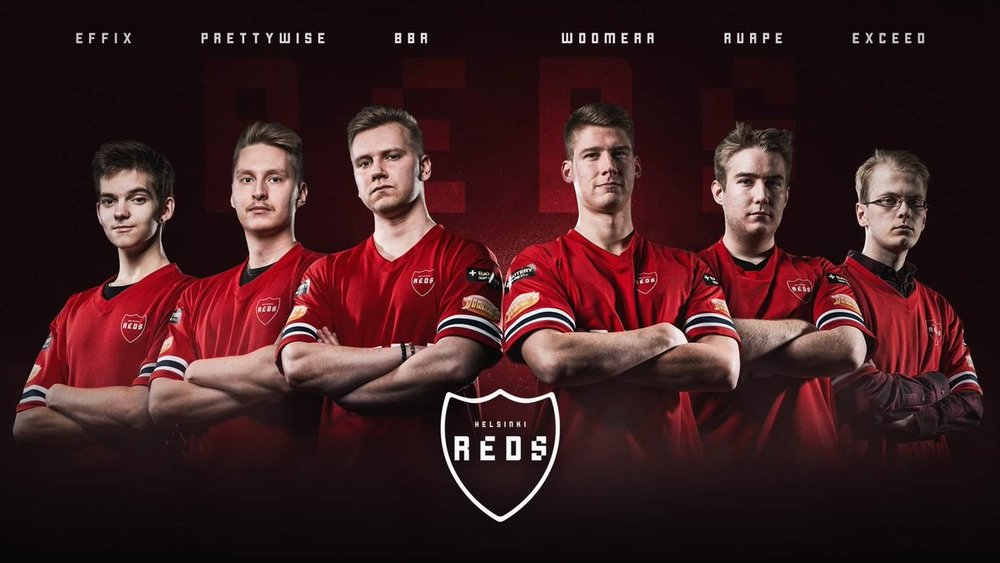 Finland's Helsinki Reds eSports Team (Photo: IFK)