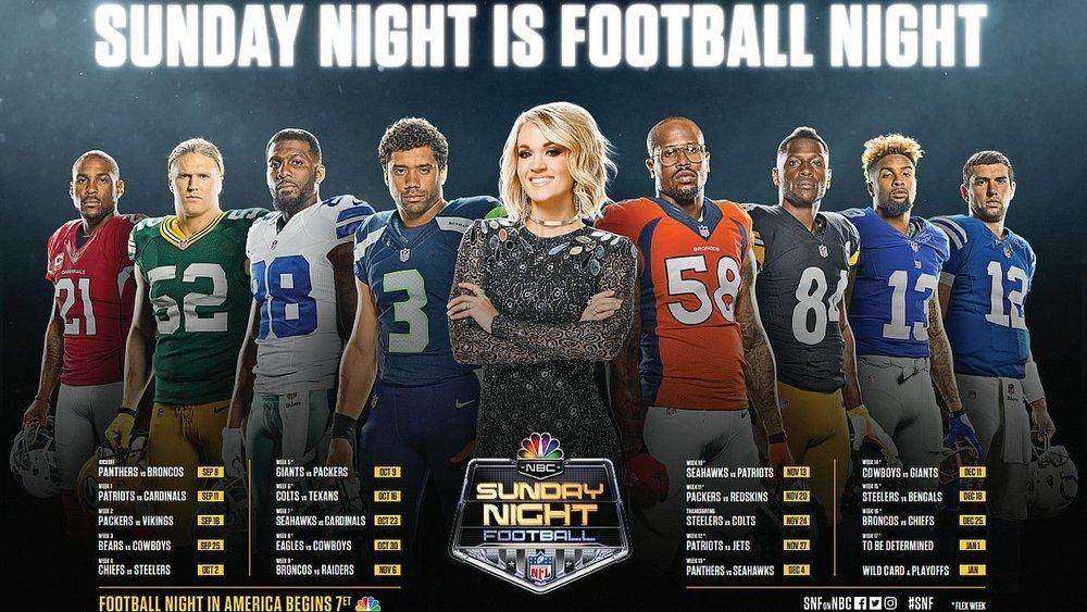 Sunday Night Football Schedule (Photo: NBC)