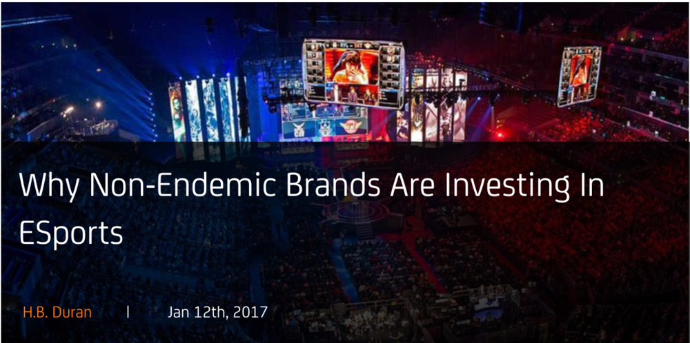 Why Non Endemic Brands Are Investing In eSports (Photo: alistdaily)