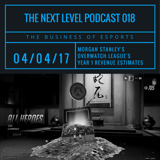 TNL eSports Podcast 018: Morgan Stanley's Overwatch League Revenue Estimates (Graphic: The Next Level)