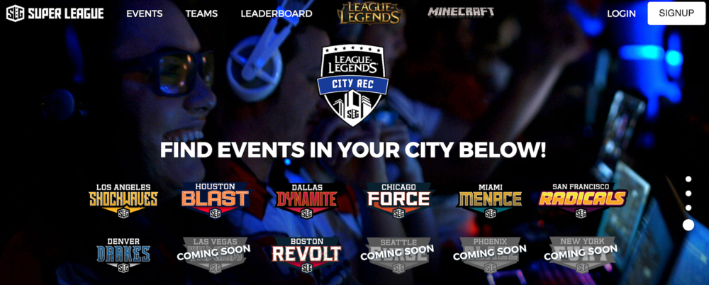 Super League Gamings City Based League (Photo: Super League Gaming)