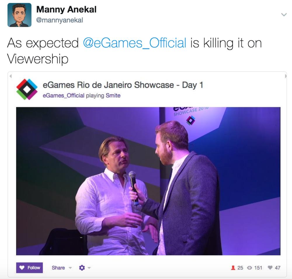 eGames Twitch Viewership (Photo: @mannyanekal Twitter)