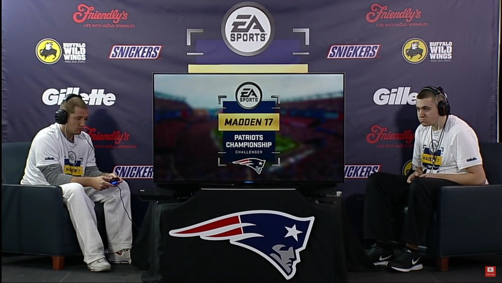 Buffalo Wild Wings In Game During The Patrios Club Series(Photo: Youtube Patriots Club Series)