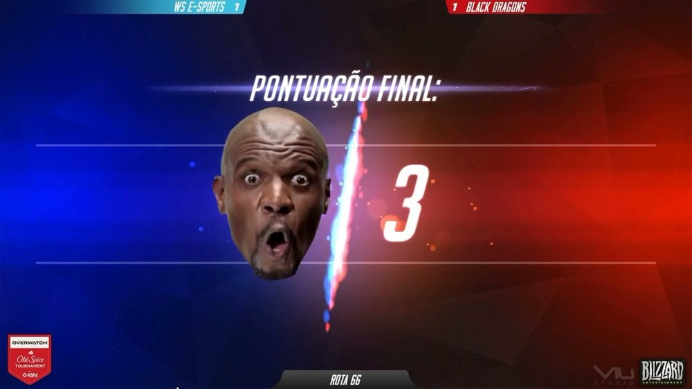 "Very reminiscent of the ""Shaq-Face"" that Turner's ELEAGUE uses (Photo: Twitch)"
