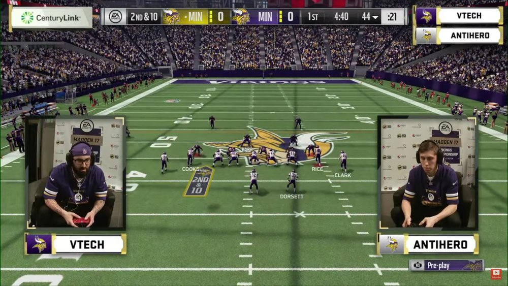 Rotating banner advertisement during Vikings Championship (Photo: Youtube)