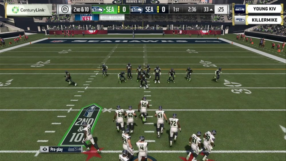 Rotating banner advertisement during Seahawks Championship (Photo: EAMaddenNFL TwitchTV Channel)