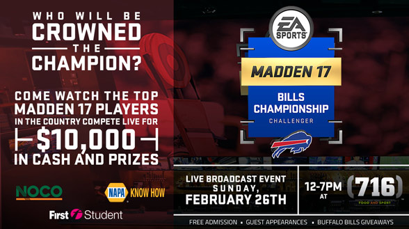 First Student and Buffalo Bills Madden Pro Team Club Series (Photo: Buffalo Bills)