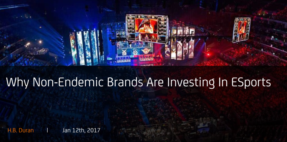 Why Non-Endemic Brands Are Investing In eSports (Photo: alistdaily)