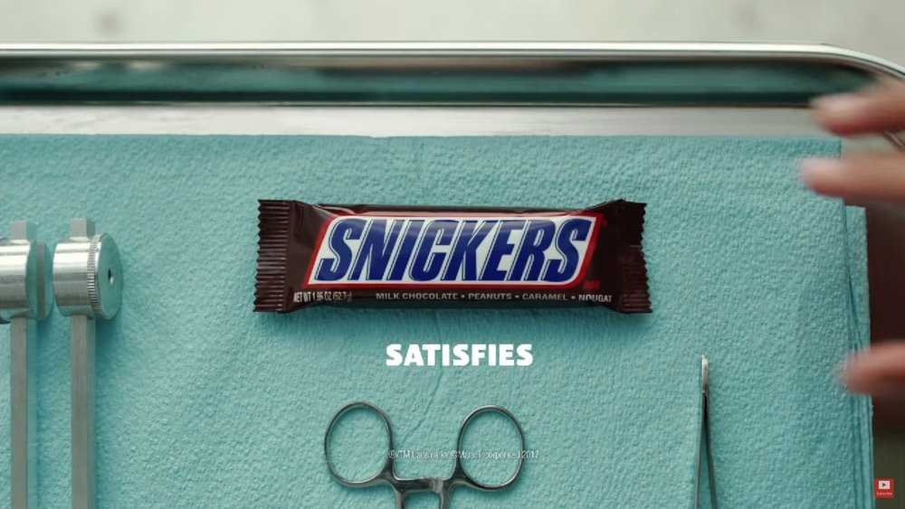 Snickers and New England Patriots (Photo: YouTube)