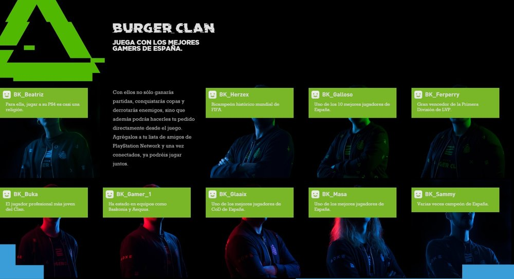 Burger Clan player list (Photo: Burger Clan Website)