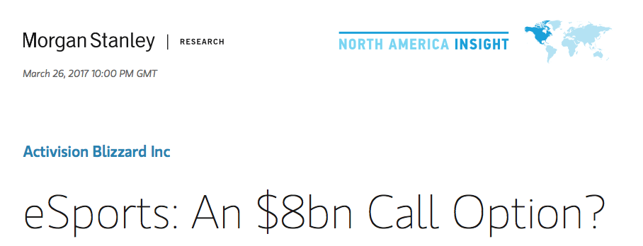 Morgan Stanley eSports Research Report (Photo: Morgan Stanley)