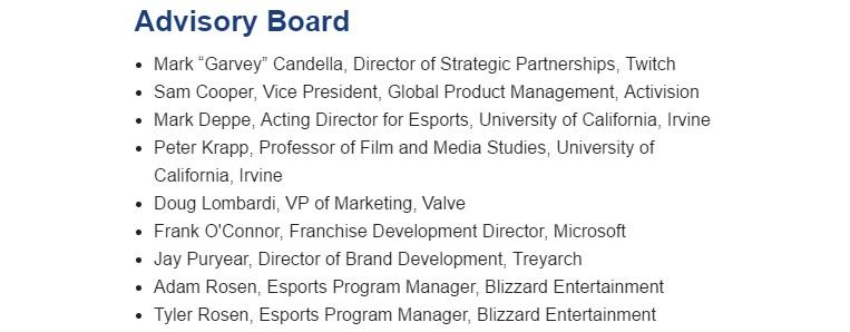 UCI's eSports Management Certificate (Photo:University of California, Irvine)