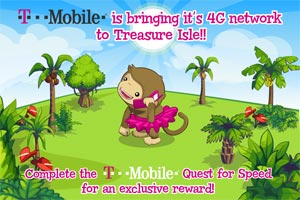 T-Mobile Sponsorship In Zynga's Treasure Island (Photo: Zynga)