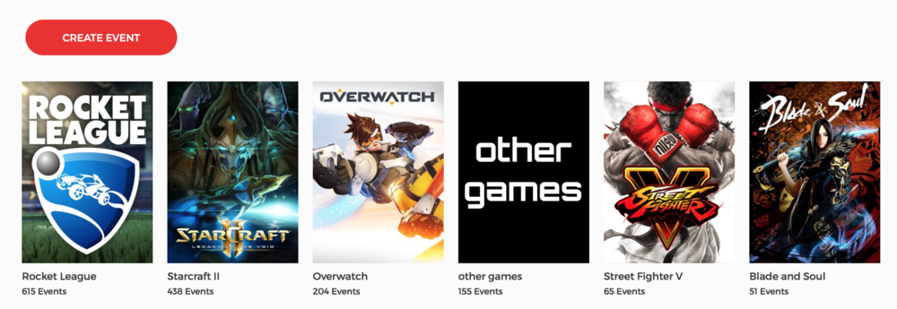 List of Matcherino Supported Games (Photo: Matcherino)