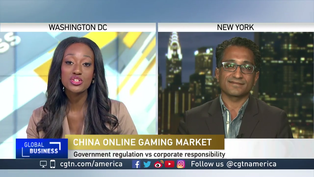Talking Tencent On China Global Television Network (Photo: CGTN)