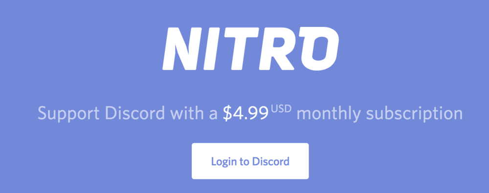 Nitro, Discord's Subscription Product (Photo: Discord)