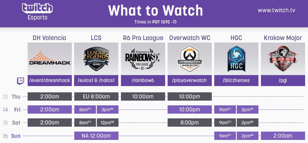 eSports on Twitch This Weekend (Photo: Twitch)