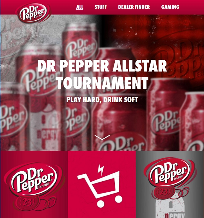All, Stuff, Deal Finder, and Gaming (Photo: Dr. Pepper Germany)