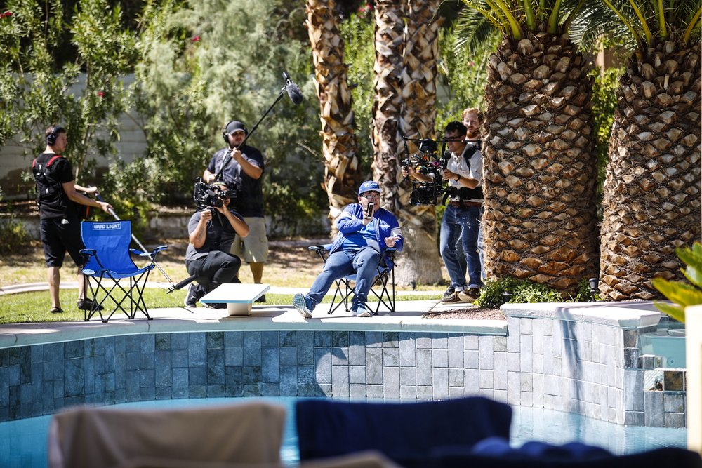 Bud Light All-Stars Filming at the Vegas Mansion (Photo: Bud Light)