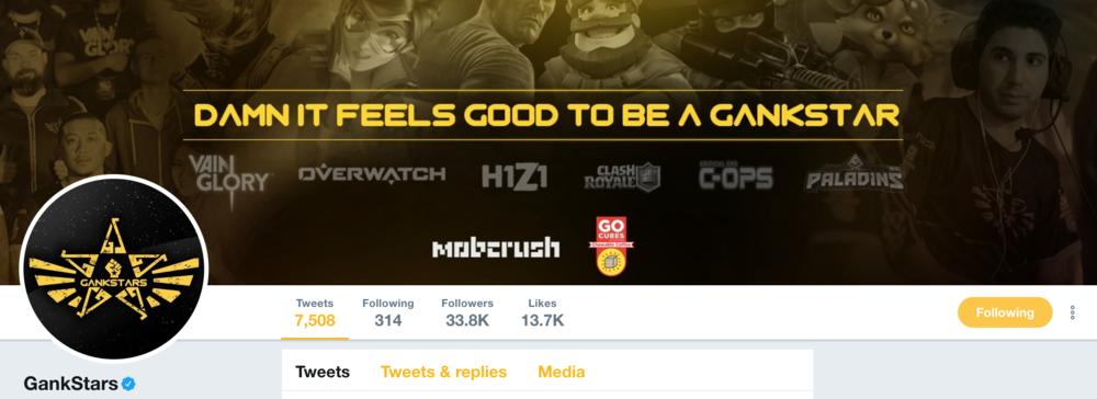 Go Cubes Sponsorship of eSports Team Gankstars (Photo: Twitter)
