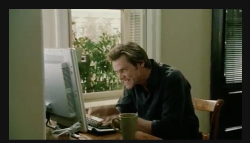 Jim Carrey Typing (Photo: Google)