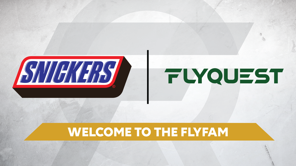 Snickers and FlyQuest Sports (Photo: FlyQuest Sports)