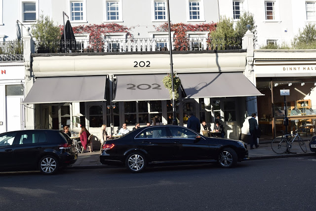 202 restaurant london