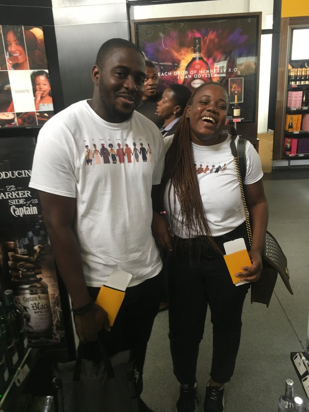 No-one needs to be this happy in Nigerian duty free