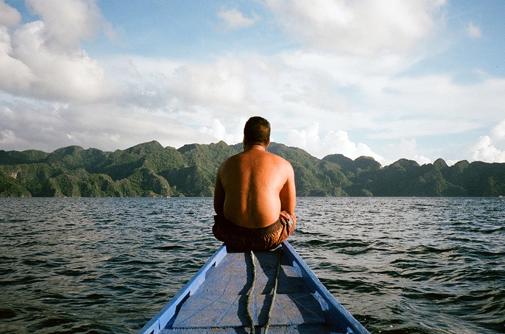 Local boatsman in Coron Island, Palawan